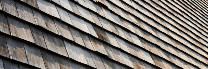 Close-Up of Cedar Roofing